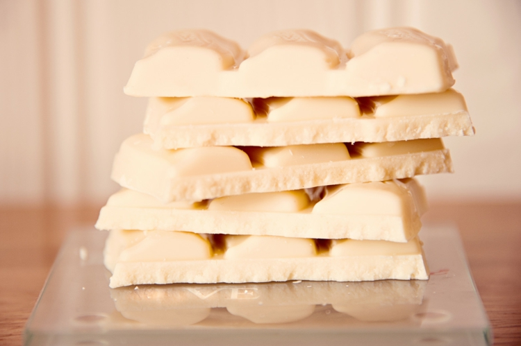 White chocolate stack