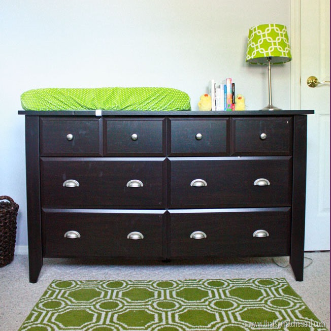 Dresser to changing table sauder furniture