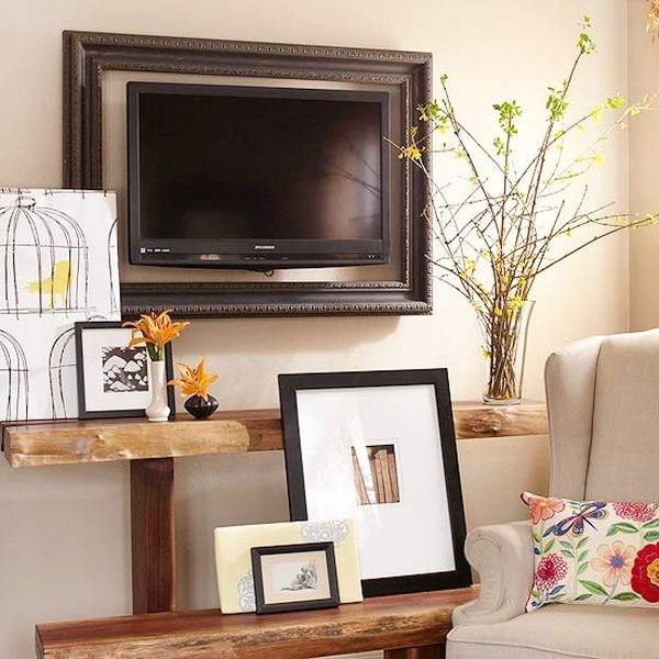 Wall Sconces Around Tv : TV frame ideas frame your TV and blend it in the home interior