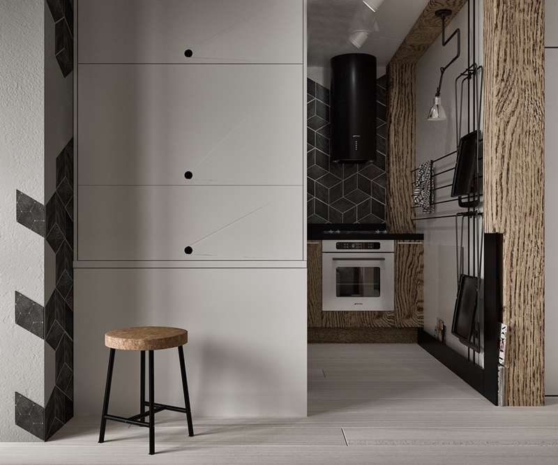 Inspiring Second Hand Cabinets 4 Dark Cherry Kitchen: Bold Decor In Small Spaces